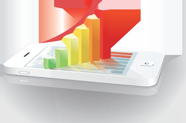 Celular Apresentando o Gráfico com o Resultado de Otimização de Sites (SEO)